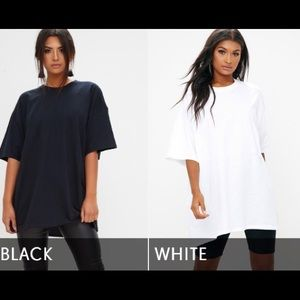 Tops - Oversized Boyfriend Tees in Black & White